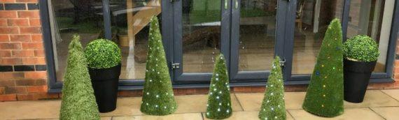 Artificial Outdoor Christmas Trees