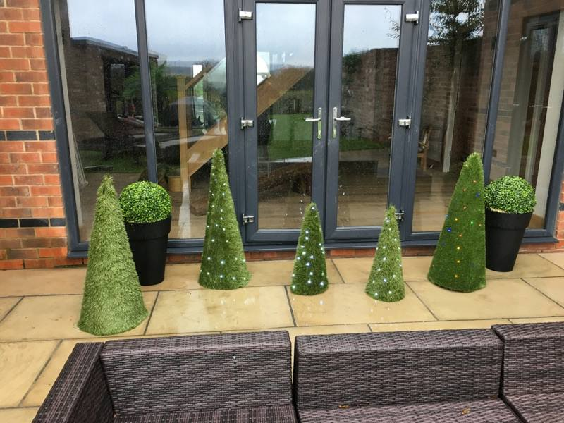 Artificial Outdoor Christmas Trees