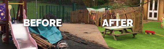 School playground transformation